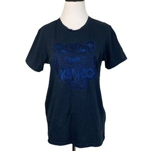 Kenzo Navy Blue Embroidered T-shirt